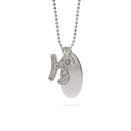 Engravable Sterling Silver CZ Capricorn Necklace | Eve's Addiction