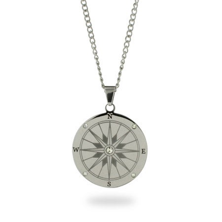 Engravable Compass Necklace | Eve's Addiction®