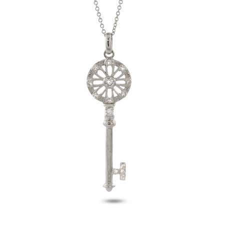 CZ Flower Petals Key Pendant | Eve's Addiction®