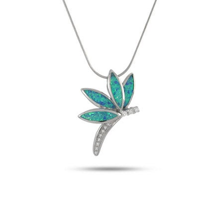 CZ and Dragonfly Necklace