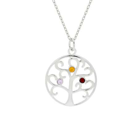 3 Birthstone Family Tree Pendant | Eve's Addiction®