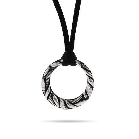 Circle CZ Cable Necklace
