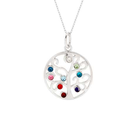 Family Tree Pendant with 9 Custom Birthstones