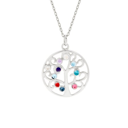 10 Birthstone Family Tree Pendant