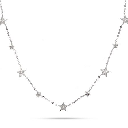 Seven Stars Sterling Silver Chain Necklace