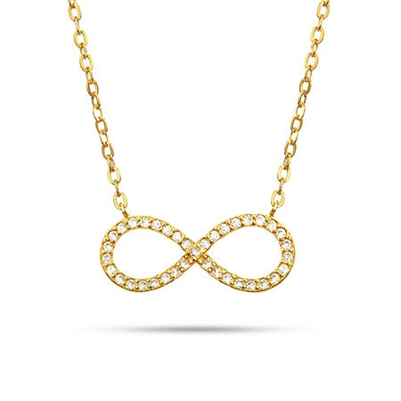 Gold Vermeil CZ Infinity Necklace