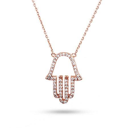 Rose Gold Hamsa Necklace