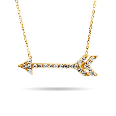 Gold CZ Arrow Necklace | Eve's Addiction