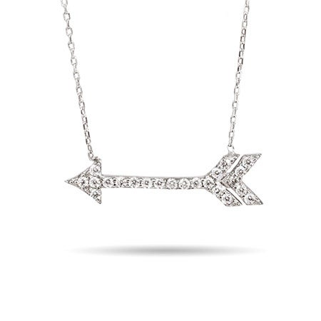 CZ Arrow Sterling Silver Necklace