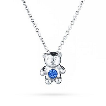 Birthstone Teddy Bear Necklace | Eve's Addiction