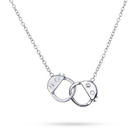 CZ Handcuff Sterling Silver Necklace