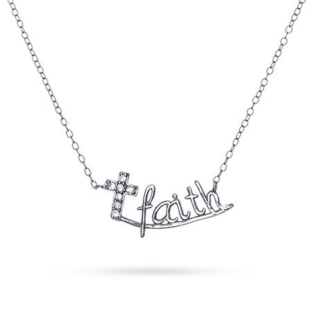 Faith CZ Cross Necklace