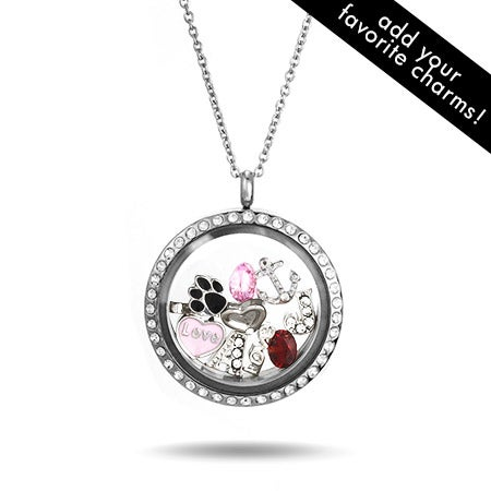 Diamond CZ Floating Charm Locket | Eve's Addiction