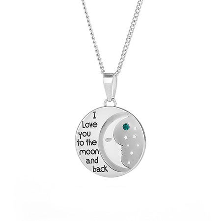 I love you to the moon and back birthstone necklace custom i love you to the moon and back birthstone necklace mozeypictures Choice Image