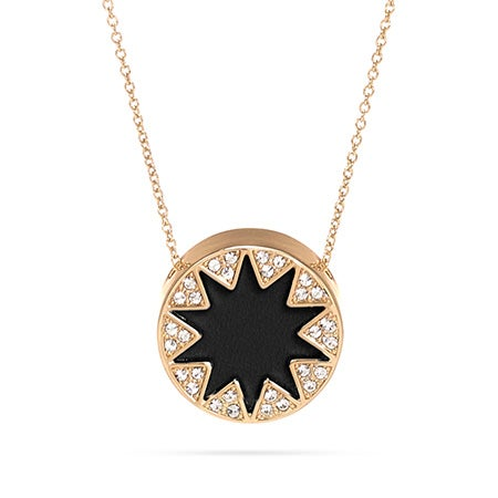 House of Harlow 1960 Mini Pave Sunburst Necklace in Black
