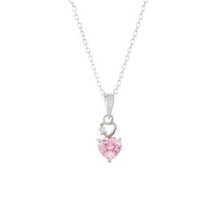 Petite Custom Birthstone Heart Pendant