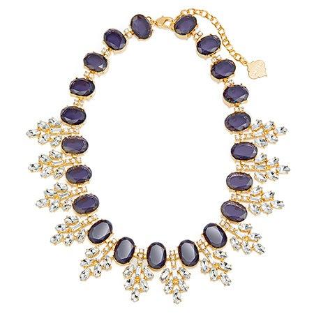 Fornash Serena Necklace with Navy Stones