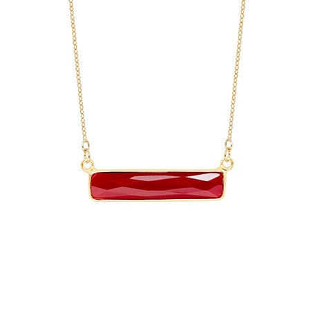 Ruby Bar Necklace | Eve's Addiction