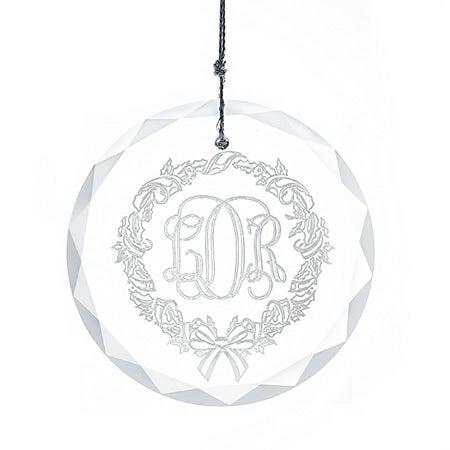 Personalized Monogram Glass Ornament