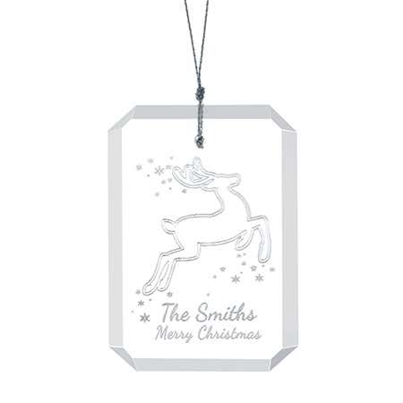 Personalized Christmas Reindeer Ornament
