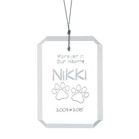 Personalized Pet Glass Ornament