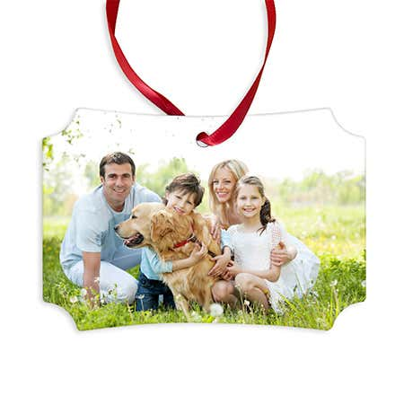 display slide 1 of 1 - Berlin Style Custom Holiday Photo Ornament - selected slide
