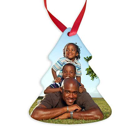 Personalized Tree Shaped Christmas Photo Ornament