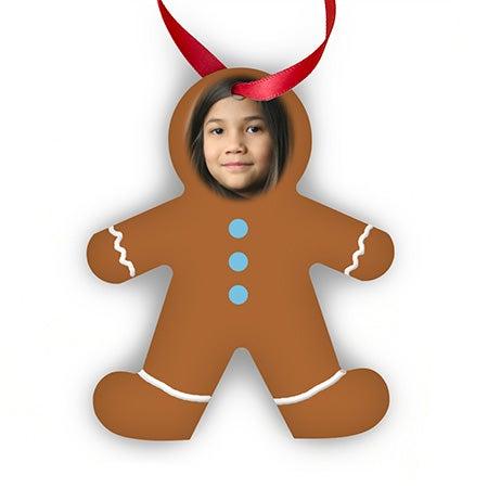 Custom Gingerbread Man Photo Ornament