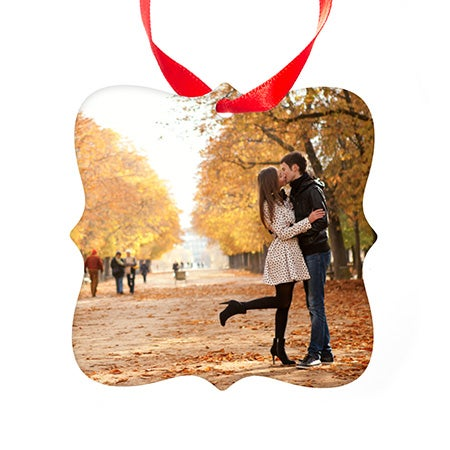 Prague Style Holiday Photo Ornament