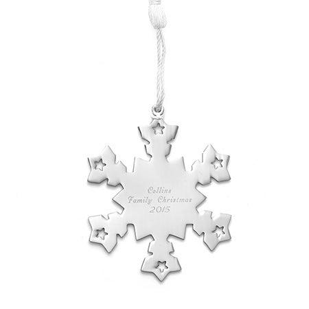 Personalized Snowflake Metal Ornament