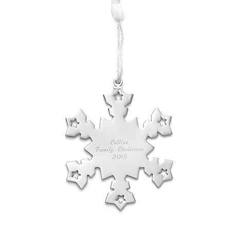 Personalized Snowflake Metal Ornament