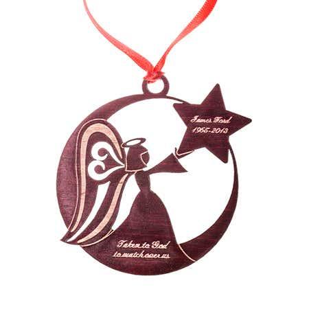 Memorial Angel Wood Ornament