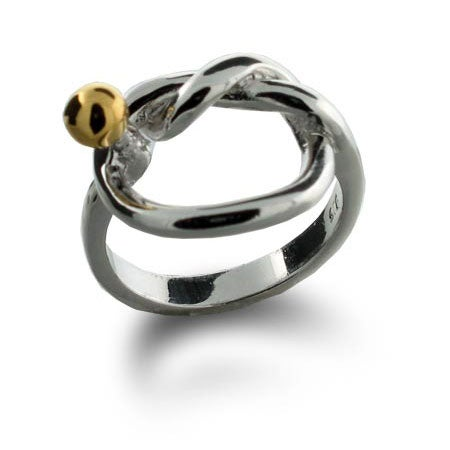 Designer Style Sterling Silver Love Knot Ring | Eve's Addiction®