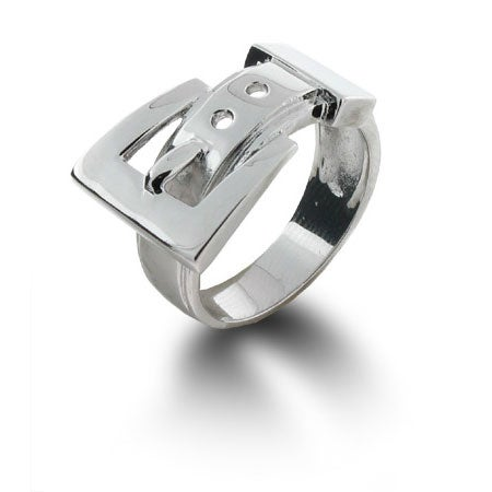 Sterling Silver Belt Buckle Ring   Eve's Addiction®