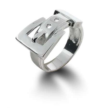 Sterling Silver Belt Buckle Ring | Eve's Addiction®