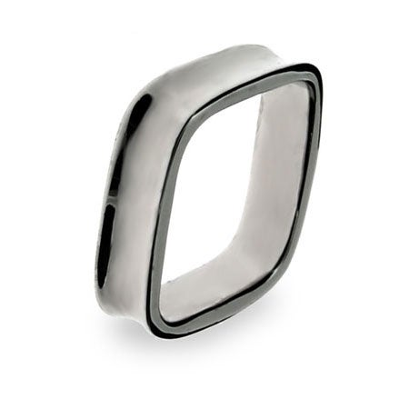 Sterling Silver Square Shaped Ring | Eve's Addiction®