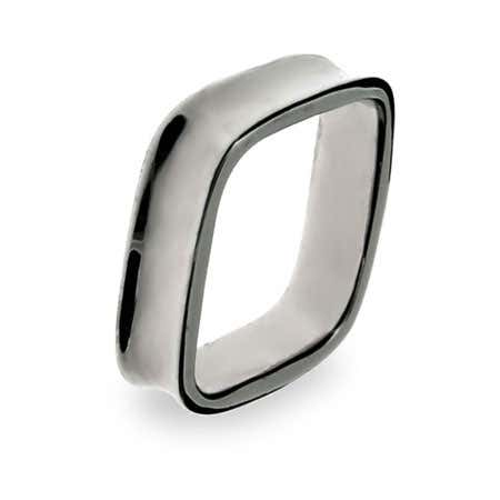 Sterling Silver Square Shaped Ring