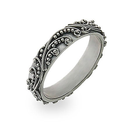 Bali Design Stackable Ring in Silver | Eve's Addiction®