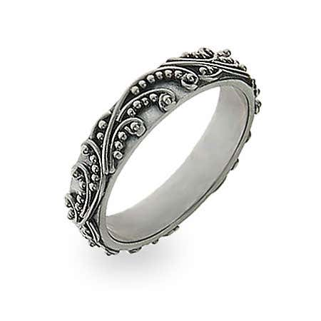 Bali Design Stackable Ring in Silver