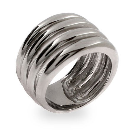Bold Four Band Sterling Silver Ring | Eve's Addiction®