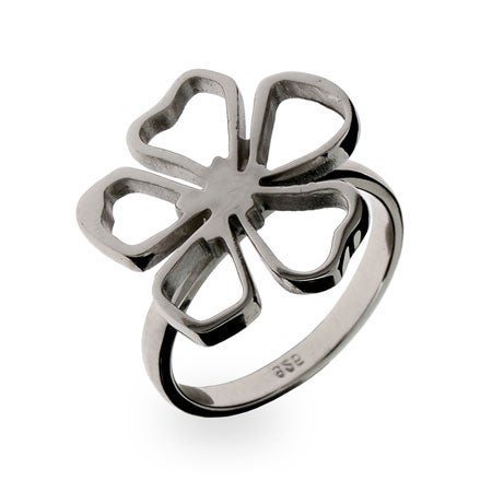 Designer Style Sterling Silver Flower Ring | Eve's Addiction®