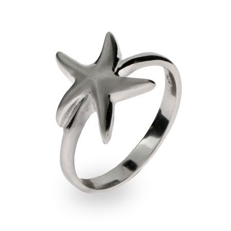 Designer Style Sterling Silver Starfish Ring | Eve's Addiction®