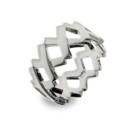 Sterling Silver Continuous Letter X Ring | Eve's Addiction®