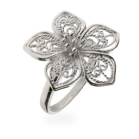 Vintage Style Filigree Flower Ring | Eve's Addiction