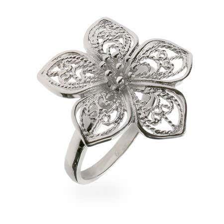 Vintage Style Filigree Flower Ring