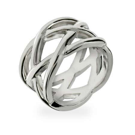 Designer Style Sterling Silver Celtic Knot Ring