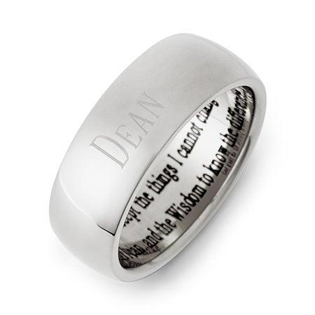 Men's &  Women's Stainless Steel Serenity Prayer Ring   Eve's Addiction®