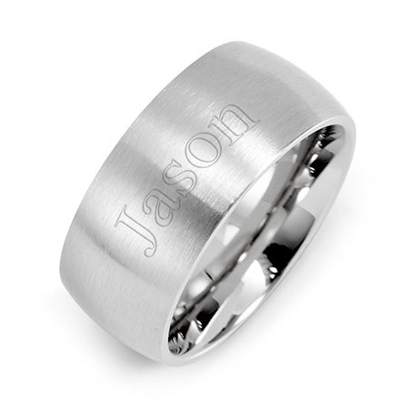 9mm Brushed Stainless Steel Wedding Band | Eve's Addiction®