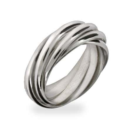 Seven Band Sterling Silver Rolling Ring | Eve's Addiction®