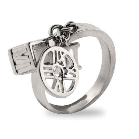 Designer Style Sterling Silver Roman Numeral Charm Ring    Eve's Addiction®